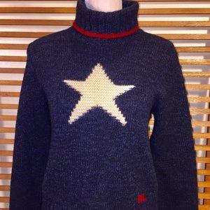 Ralph Lauren Wool Silk Star Sweater Women's L